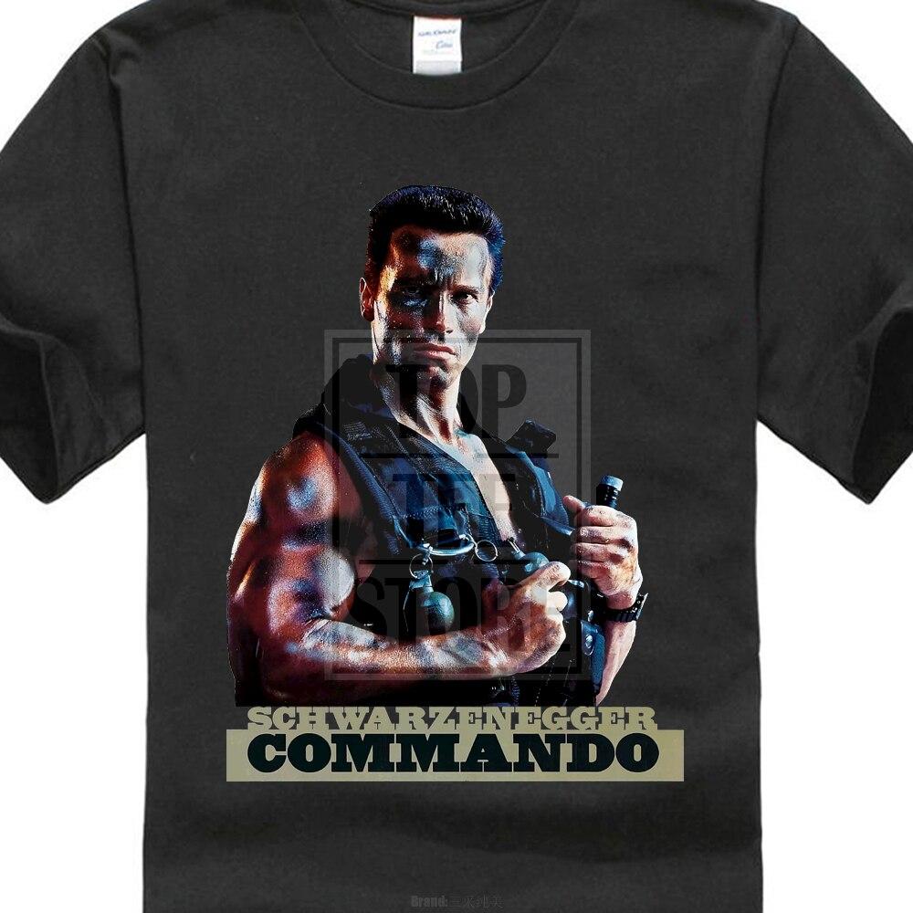 Commando T Shirt Arnold Schwarzenegger Cult Movie Film