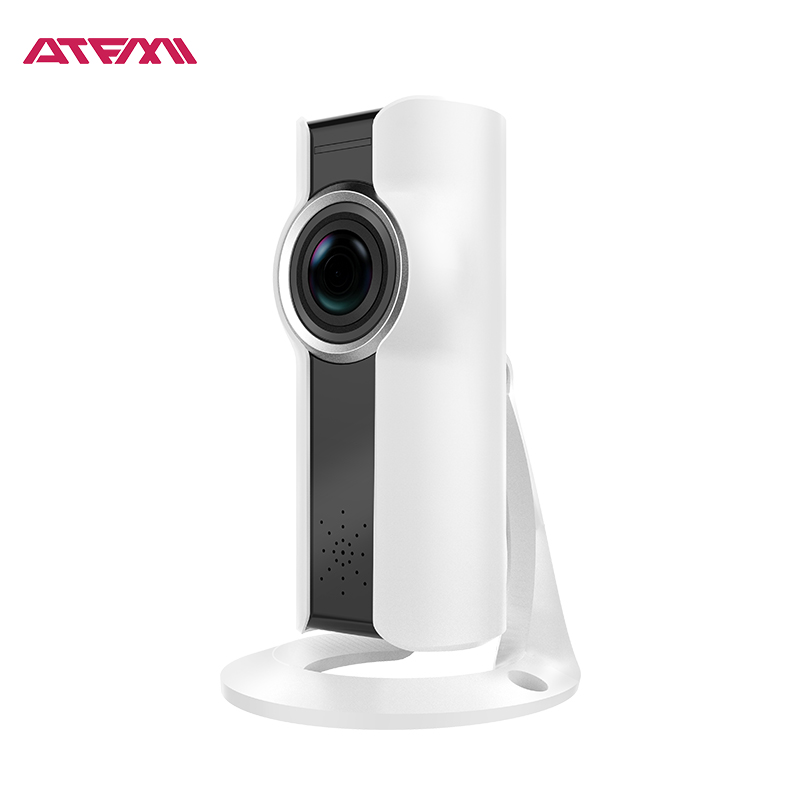 ATFMI Q2 720P WIFI IP Camera 180 Degree VR Fisheye Lens Wireless Security Camera Two-way Audio Baby Monitor Support Android IOS