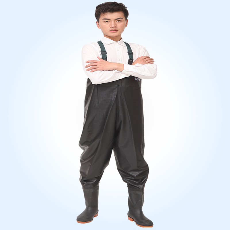 все цены на 2017 Waterproof Breathable Fishing Waders PVC Stocking Foot Chest Waders Rafting Wear One-piece breathable Chest Fishing Waders
