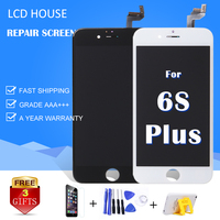 For IPhone 6s Plus Lcd Display Touch Screen Digitizer Frame New Glass Full Assembly Replacement With