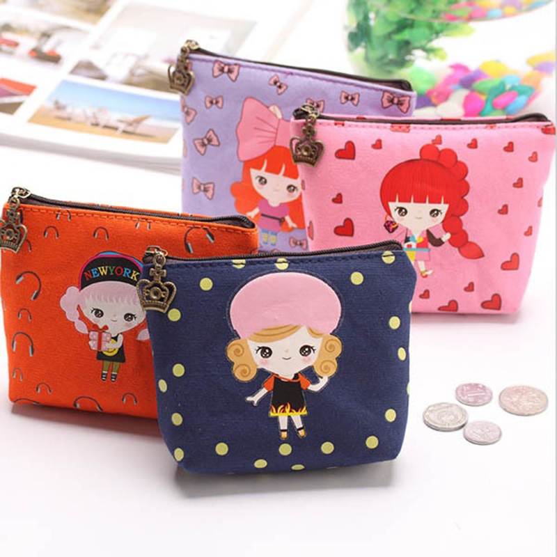 1pcs coin purses,lovely cartoon girls Canvas zero wallet child girl women change purse,lady zero wallets,coin bag Free shipping 2016 coin bag creative flower women coin purses fresh syle key wallets canvas girls child gift wallets small purse b0234