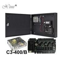 TCP/IP контроля доступа панель управления доступом ZK C3 400 4 двери Система контроля доступа с блоком питания Функция батареи