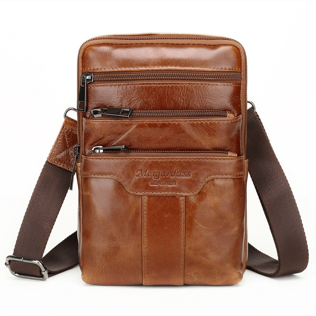 2e80f27752 MEIGARDASS Genuine Leather Small Messenger Bags Vintage Cowhide Travel  Casual Shoulder bags for Men Ipad Crossbody Bag Handbags