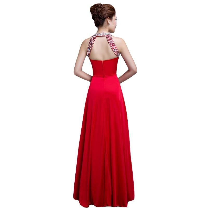 DongCMY New Arrival 2019 Beaded Long Evening Dress Vestido De Festa Longo Sleeveless Zipper Robe De Soiree