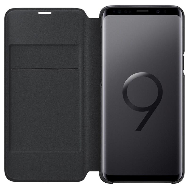 Image 4 - Housse de Protection dorigine Samsung LED housse de Protection pour SAMSUNG Galaxy S9 G9600 S9 + Plus G9650 poche de carte de fonction de sommeilÉtuis à rabat   -