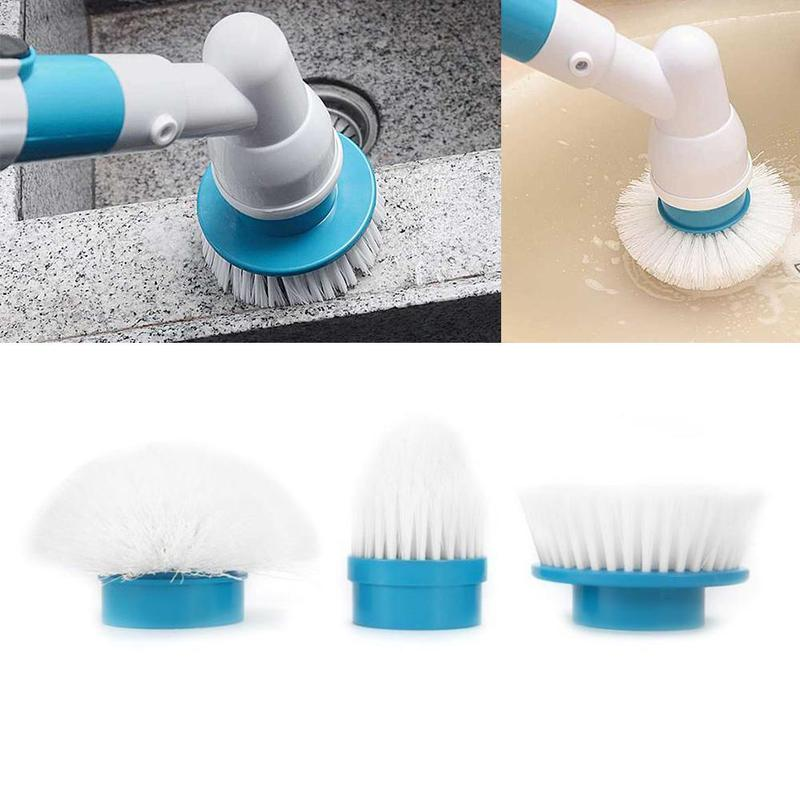 Kitchen Cleaner Brush: Wireless Cleaner Brush With 3Pcs Replacement Brush