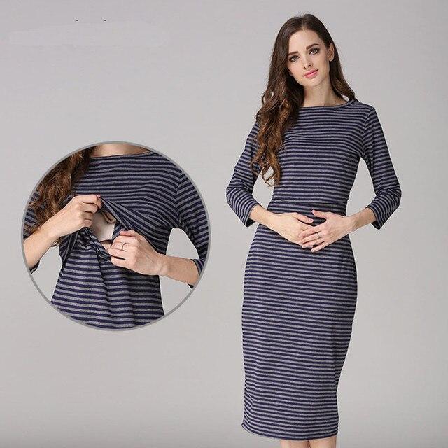 3cf0aa653553c فساتين الأمهات المرضعات حزب فساتين الحمل ملابس لل نساء الحوامل الأمومة  الملابس الأمومة التمريض اللباس