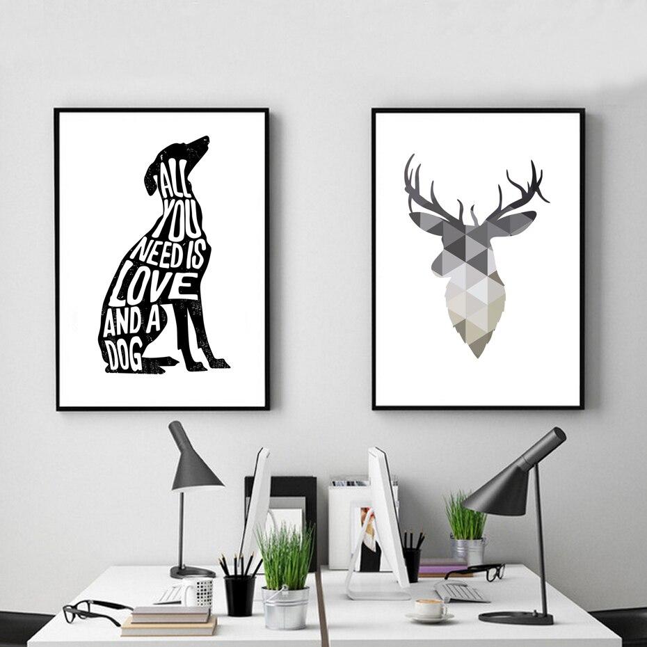 Dog Μινιμαλιστική Αφίσα Ιταλικά - Διακόσμηση σπιτιού - Φωτογραφία 2