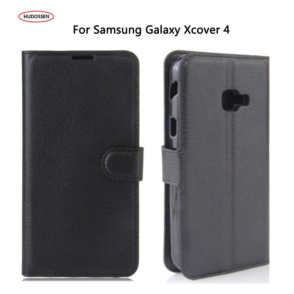 HUDOSSEN Para Samsung Galaxy XCover 4 Do Caso Da Aleta Cartão da Carteira Slots de Coque Capa de Couro PU Capa Para Samsung Galaxy G390F SM-G390F