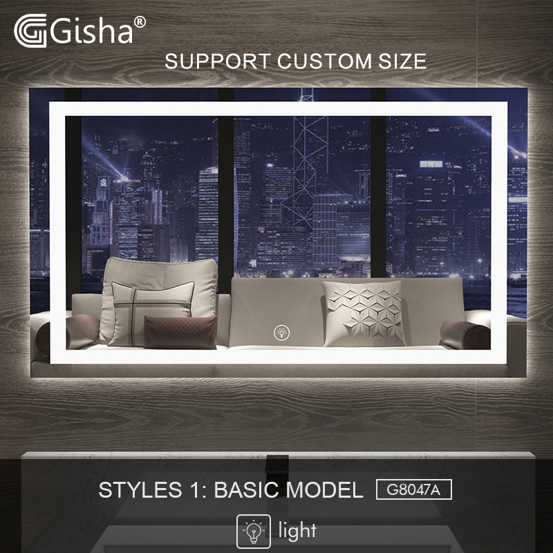 Collection Here Gisha Smart Mirror Led Bathroom Mirror Wall Bathroom Mirror Bathroom Toilet Anti-fog Mirror With Touch Screen Bluetooth G8047 Terrific Value Bath Mirrors Bathroom Hardware
