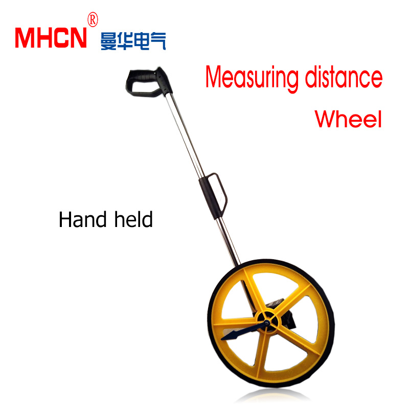 Free shipping the Foldable wheel distance measurer 0-9999M long distance meter measuring wheel long distance calling rostock