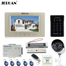 "JERUAN Home 7"" LCD Video Door Phone intercom System kit waterproof Password keyboard Access IR Camera + 700TVL Analog Camera"
