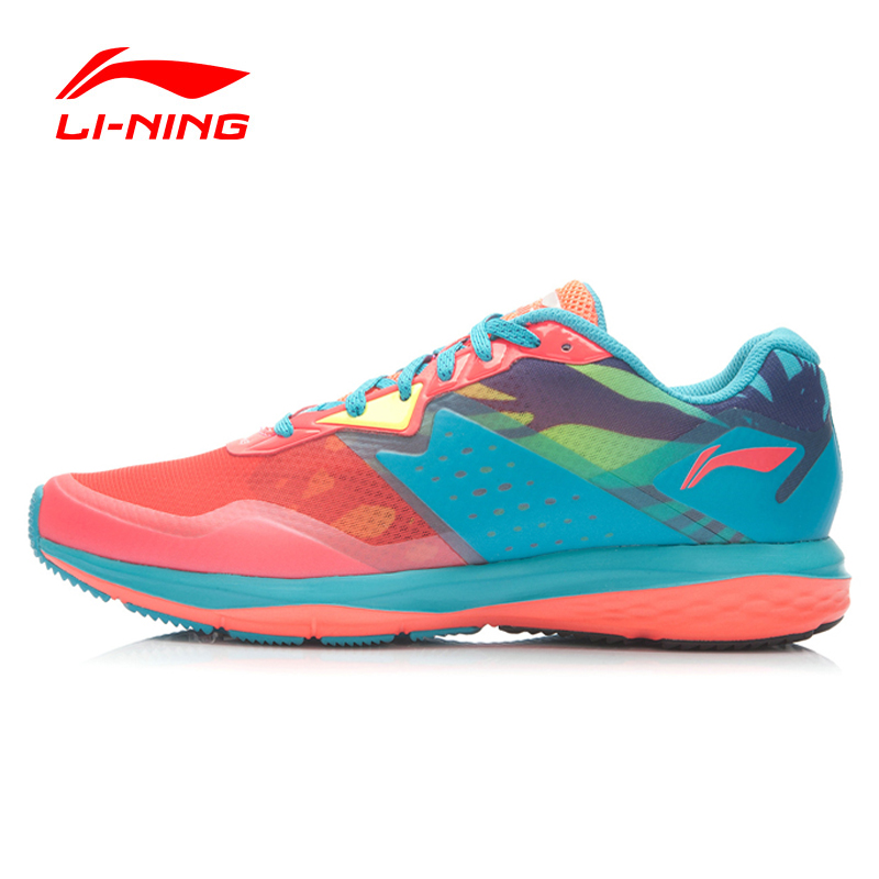 Li-Ning Women Running Shoes Light Mesh Breathable Cushioning LiNing Cloud Technology Sneakers Sport Shoes ARHK046 XYP274 kelme 2016 new children sport running shoes football boots synthetic leather broken nail kids skid wearable shoes breathable 49