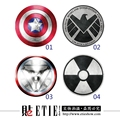 ETIE Car Styling Avengers Movie Car Accessories Car Covers Fuel Tank Sticker Funny Vinyl Car Wrap Adhesive Automobile Stickers
