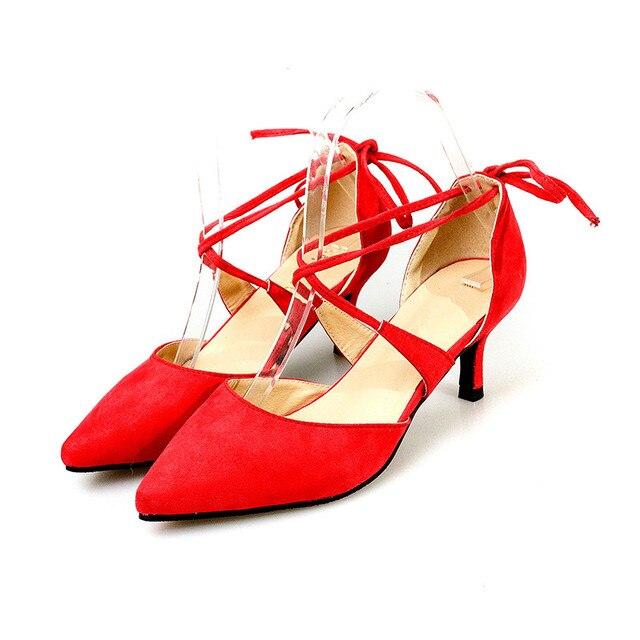 Correas dulces Zapatos Mujer Punta estrecha Mujeres Zapatos de Boda 6 cm Tacones Altos Zapatos de Mujer
