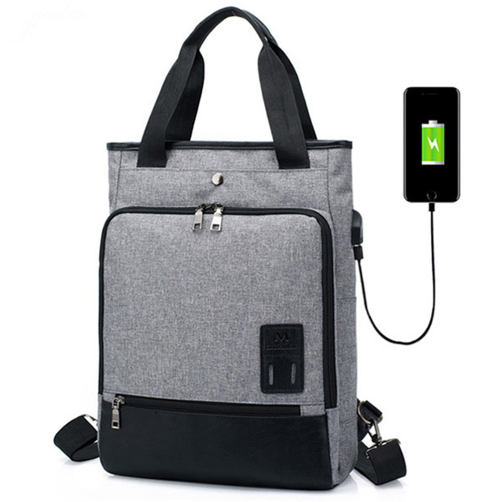 15 Inch Multifunction Usb Charging Shoulder Bags For Women Men Leisure Business Laptop  Bag Student Bags Sac A Dos Femme