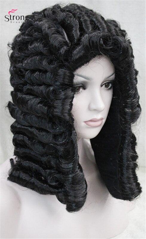 Strongbeauty парик судья барокко дворянин кудри исторические черный светлые локоны исторические ...