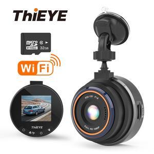 Image 1 - ThiEYE Safeel Zero + kamera na deskę rozdzielczą WiFi wideorejestrator samochodowy Real HD 1080P 170 szeroki kąt z trybem parkowania g sensor Car multi angle camera