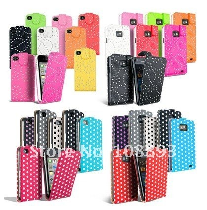 Wholesale  LEATHER FLIP CASE COVER FITS VARIOUS for  MOBILE PHONES