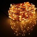 40Ft 12 M Lindo Led Fio de Cobre Luzes Cordas 240 LEDs Estrelado Luzes Da Corda Para O Natal Decoração de Casamentos e Festas