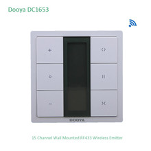 Dooya DC1653 настенный выключатель, 15 канальный излучатель пульт дистанционного управления для электродвигателя занавеса, аксессуары для занавесок, для KT320E/DT52E