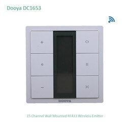 Dooya DC1653 wand schalter, 15 Kanal Emitter Fernbedienung für Elektrische Vorhang Motor, Vorhang Zubehör, für KT320E/DT52E