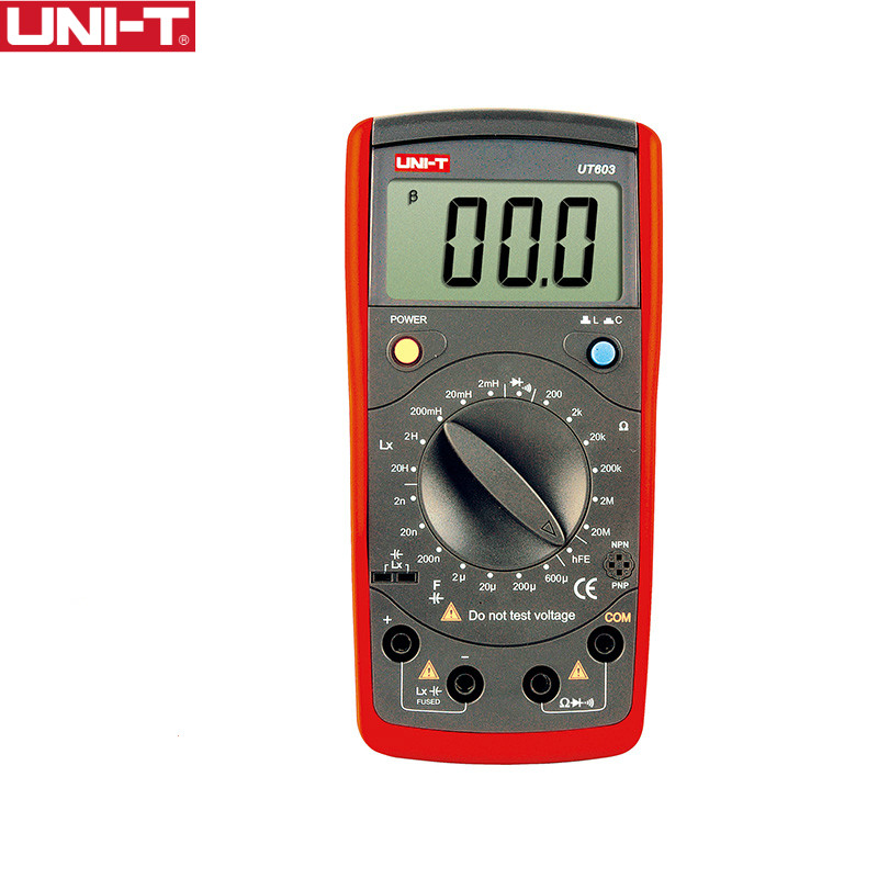 UNI-T UT603 Modern Resistance Inductance Capacitance Meters Testers LCR Meter Capacitors Ohmmeter W HFE Test