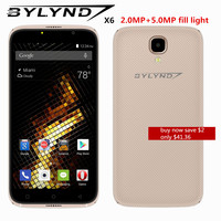 Cheap Celular Smartphones BYLYND X6 Front Camera Fill Light Android 6 0 MTK6580 Quad Core 5