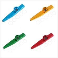 Простой дизайн легкий kazoo алюминиевый сплав металл для гитара музыкальный инструмент для любителей музыки 12 см 6 цветов на выбор