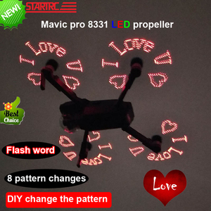 Image 4 - STARTRC DJI Mavic Pro 8331 LED Flash Word Propeller programmable Pattern Paddle For DJI Mavic pro platinum Drone Accessories