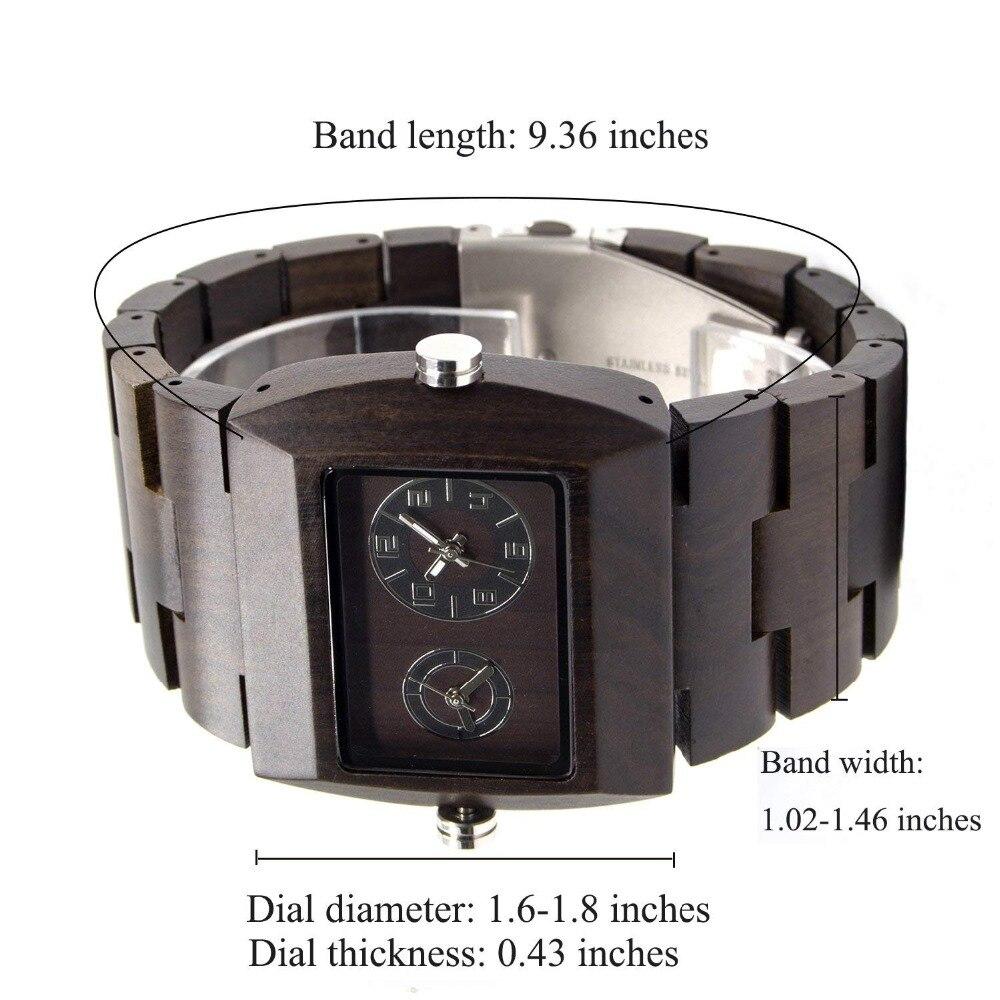 BEWELL Wood Watch Men Watch Japan Movement Double Movement Quartz Watch Luminous Wristwatch Relogio 021C