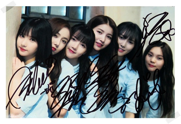 signed GFRIEND autographed group photo RAINBOW K-POP  6 inches free shipping 102017B signed infinite jang dongwoo dong woo autographed photo k pop 6 inches free shipping 102017