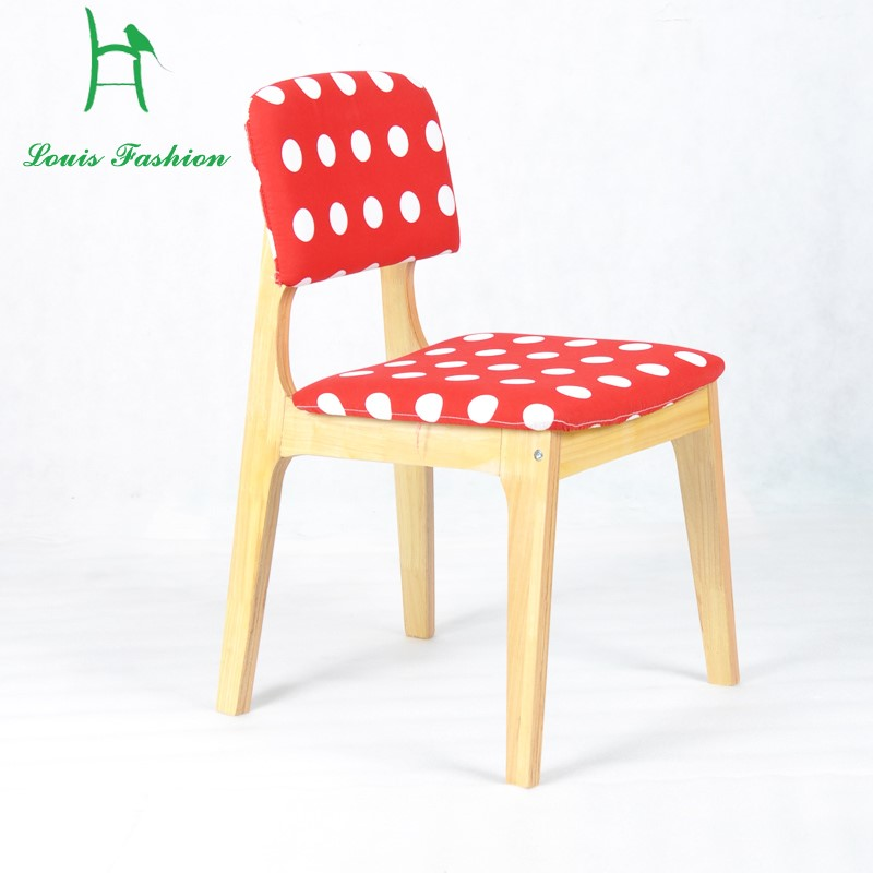 Modern Simple Solid Wood Comfortable Backed Dining Chair China Mainland