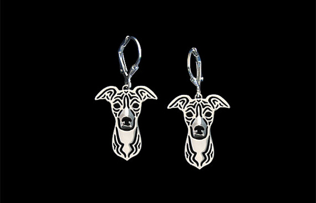 Unique Handmade Hollow Italian Greyhound Earrings Pet Lovers Gifts Idea--12 Pairs/Lot(6 Colors Free Choice)