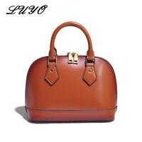 LUYO, модная натуральная кожаная женская сумка, роскошные сумки, женские сумки, дизайнерские известные бренды, сумка с ручкой сверху, Женская