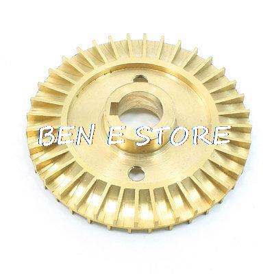 Water Pump Spare Part Solt Hole Double Side Brass Impeller Wheel 60mm Dia  60 X 12 X 6.4mm