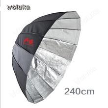 Falconeyes черный/серебристый/полупрозрачный «Три в одном» светоотражающий/Зонт с мягким светом большой зонт из мягкого материала для студийной съемки URN-48TSB1 CD50 T06
