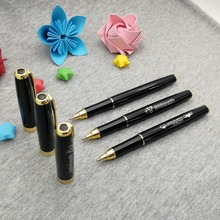 Unique Trade show giveaways free logo pen with gold clip 50pcs a lot to custom engrave your company contacts/phone
