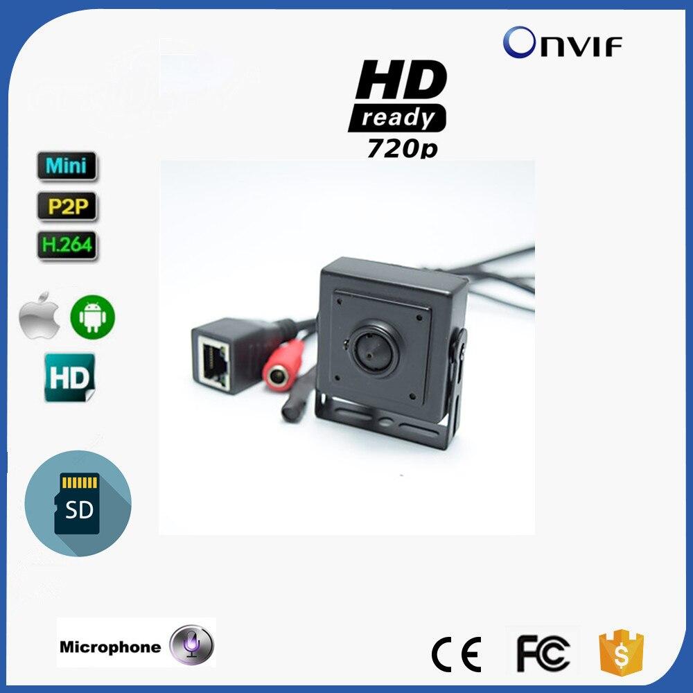 Audio&Video Super Mini Onvif IP camera Megapixel 720P HD Indoor Security CCTV IP Camera 3.7mm Lens SD Card Slot P2P цена