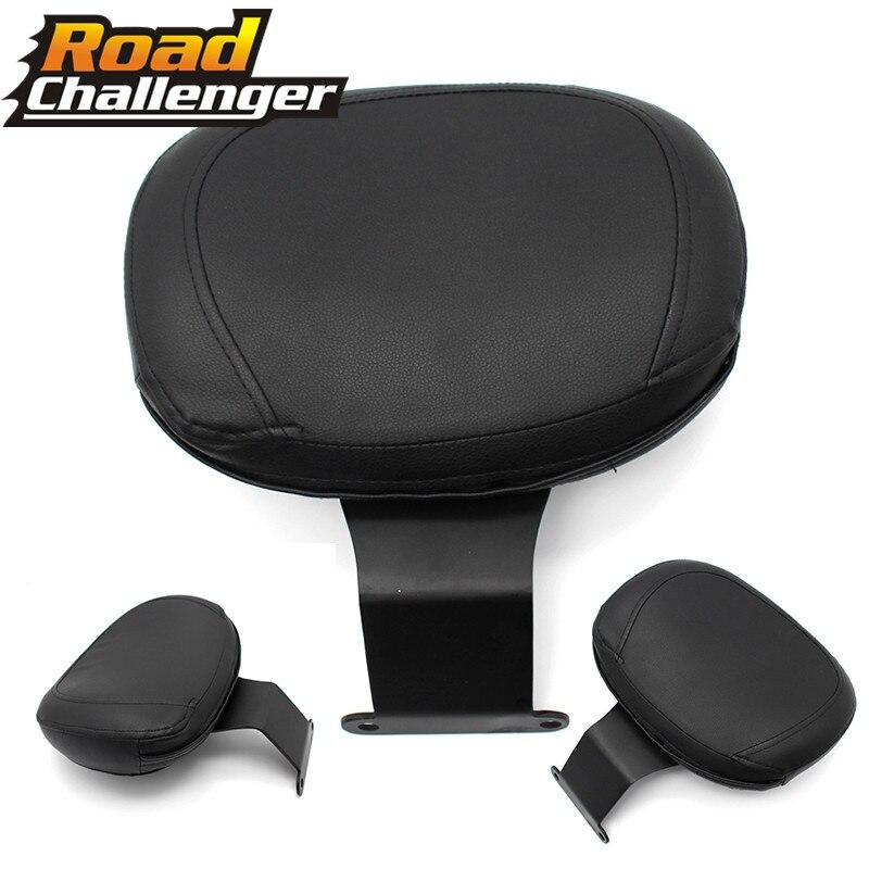 For Honda Shadow VT400 VT750 Black Backrest Sissy Bar Cushion Pad