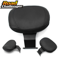 For Honda Shadow VT400 VT750 Black Backrest Sissy Bar Cushion Pad