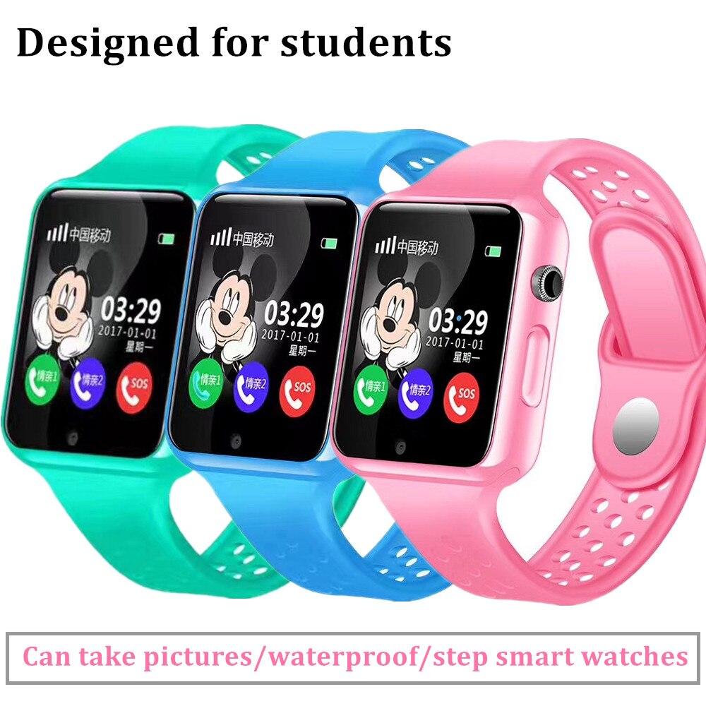 Оригинальный G98 GPS Bluetooth Smart часы для детей мальчик девочка Apple телефона Android Поддержка SIM/TF циферблат вызов и нажмите сообщение