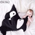SR058 2017 Shark newborn sleeping bag sleeping bag winter stroller bed swaddle blanket wrap bedding cute baby sleeping bag