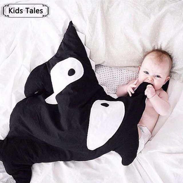 SR058 2017 Tubarão recém-nascidos saco de dormir saco de dormir inverno carrinho de criança cama cama bonito do bebê saco de dormir swaddle cobertor envoltório