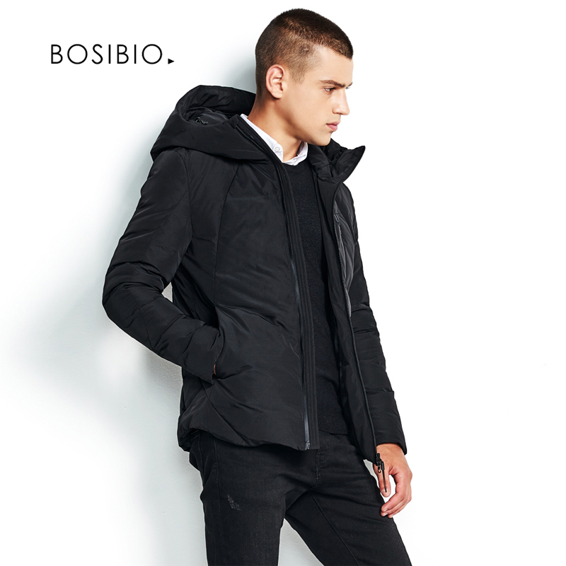 BOSIBIO 2017 Winter New Jacket Men Grey Warm Coat Fashion Casual Padded Thicken Parka Men Clothing Zipper Coat 89825-in Parkas from Men's Clothing    3