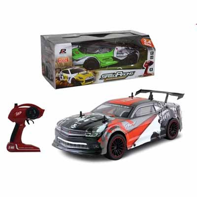 Kingtoy High Speed 4 wheel RC Speed Race Car With Lights2.4G Large Remote Control Speed Car Toy