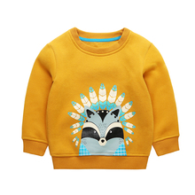 Children's Sweatershirts Baby Long Sleeve Pullover Tops Skunk Pattern Toddler Boys Girls T-shirts For Autumn Winter Warm CLothes