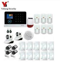 Yobang Sécurité-Sans Fil WIFI Résidentiel Antivol Systèmes D'alarme APP Contrôle IP Caméra Solaire Sirène RFID GSM Cambrioleur de Sécurité à Domicile