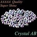 ¡Calidad superior! AAAAA grado Diamante de imitación de Cristal AB de SS4 a SS50 tamaño mixto SS10 SS16 SS20 SS30 cristales de vidrio de hierro en hotfix