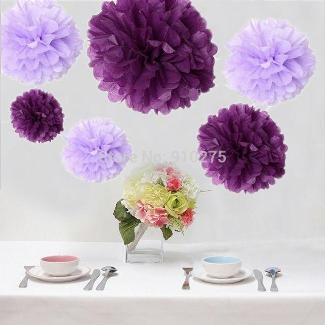 Bulk 12pcs mixed purple lavender diy tissue paper flower pom poms bulk 12pcs mixed purple lavender diy tissue paper flower pom poms wedding baby shower nursery hanging mightylinksfo